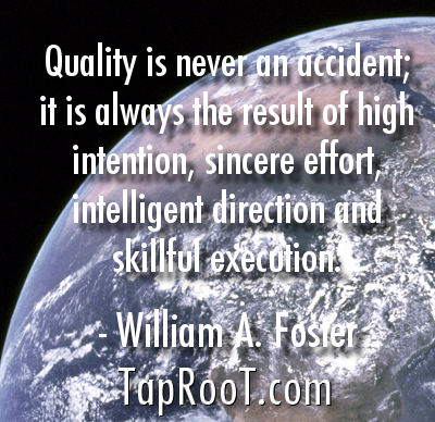quality isnt an accident