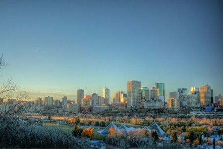 Muttart_Conservatory_Skyline_Downtown_Edmonton_Alberta_Canada_01