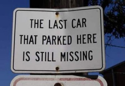 Car-Parking-Funny-Sign-Board