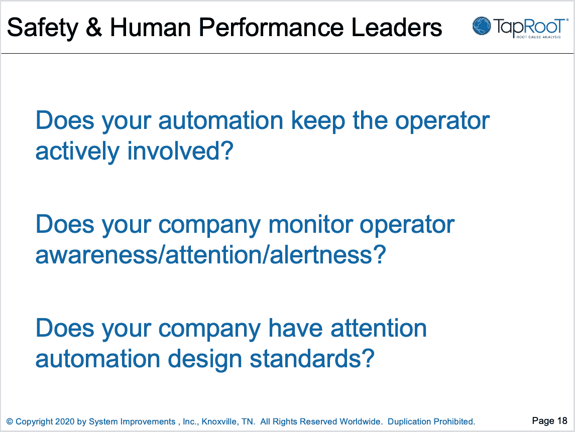 Slide 18 from Automation and Awareness talk