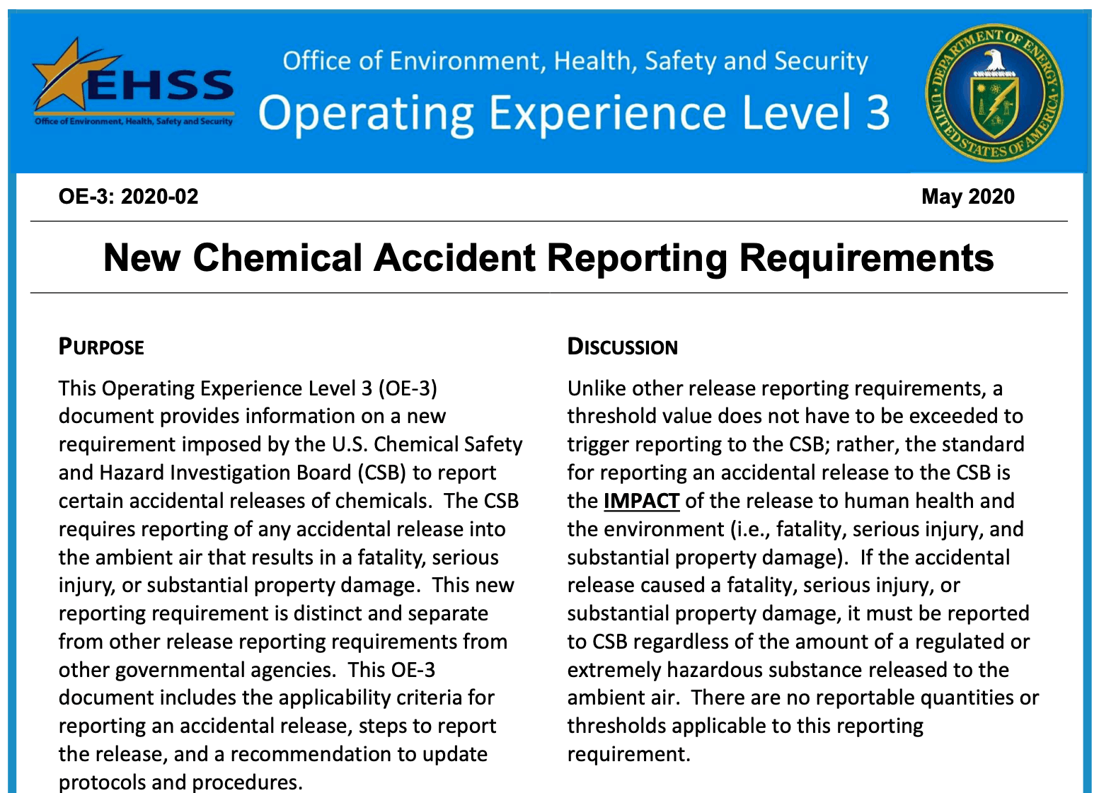 CSB Reporting Requirements