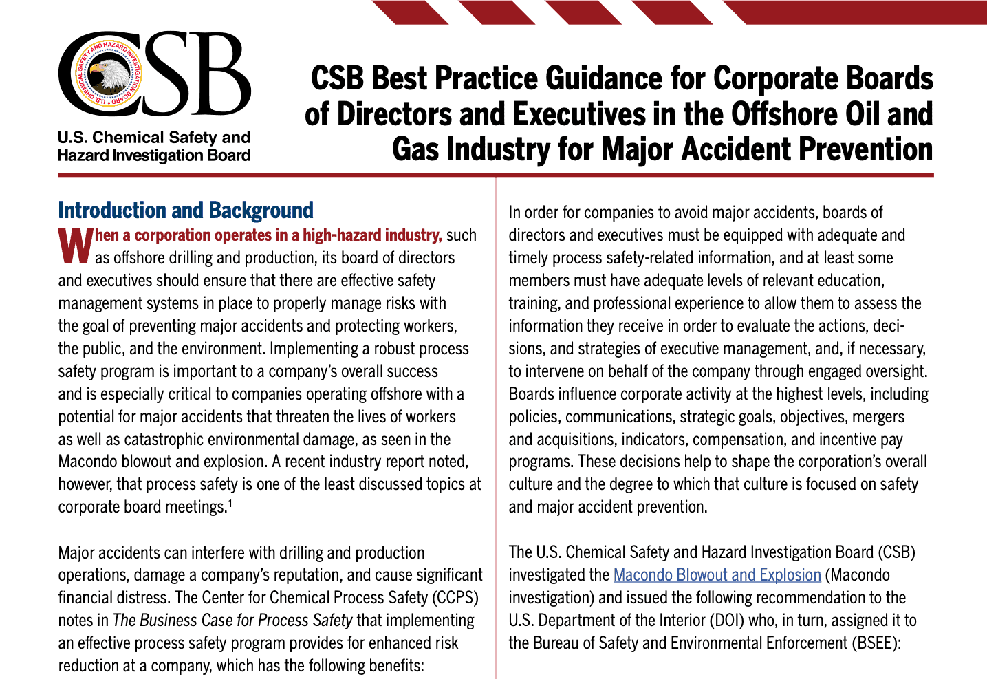 CSB Guidance