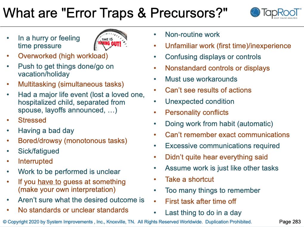 error traps