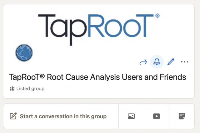 TapRooT® Users and Friends Group page