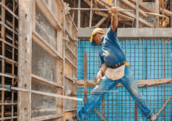 workman using dangerous practice