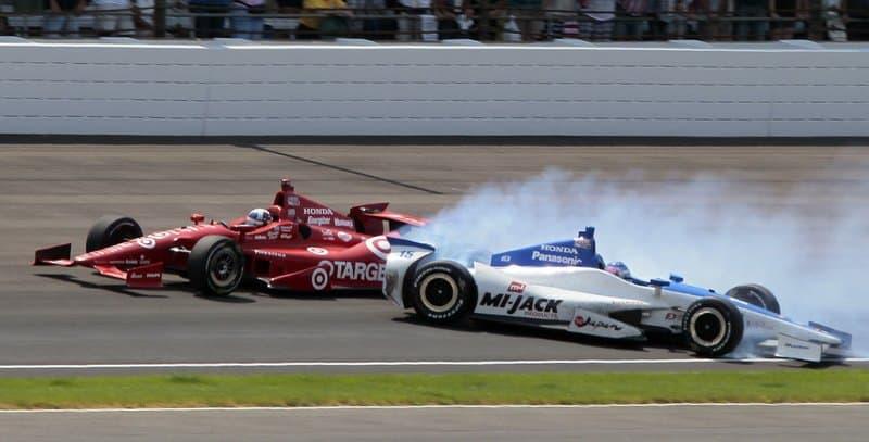 car crash drag racing