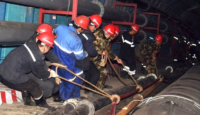 21 chinese miners trapped in mine