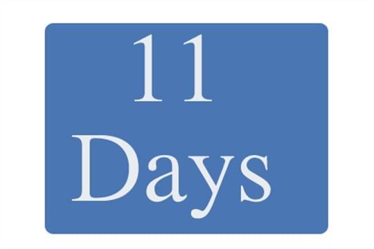 11 days until Summit